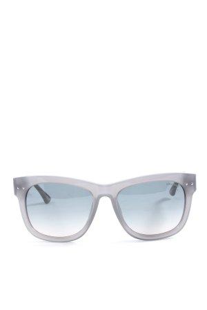 Zadig & Voltaire Gafas de sol cuadradas gris claro degradado de color