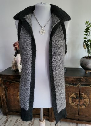 Zadig & Voltaire Long Knitted Vest silver-colored-black