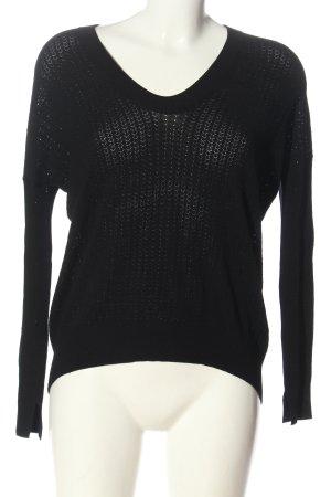 Zadig & Voltaire Cienki sweter z dzianiny czarny W stylu casual
