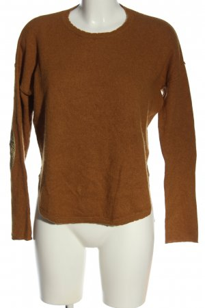 Zadig & Voltaire Coarse Knitted Sweater brown casual look