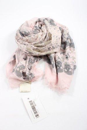 Zadig & Voltaire Halstuch pink-hellgrau Motivdruck Casual-Look
