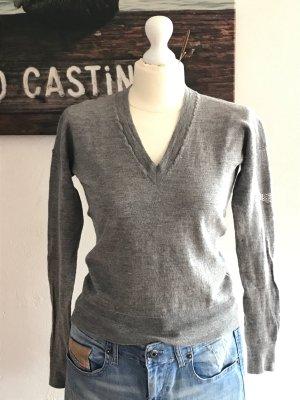 Zadig & Voltaire Wełniany sweter srebrny-szary Wełna
