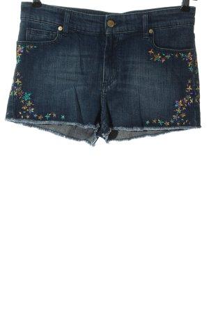Zadig & Voltaire Pantalón corto de tela vaquera azul look casual