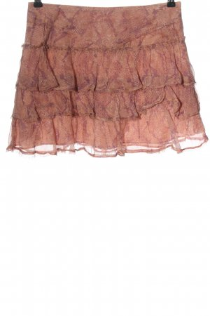 Zadig & Voltaire Spódnica mini nude-fiolet Na całej powierzchni W stylu casual