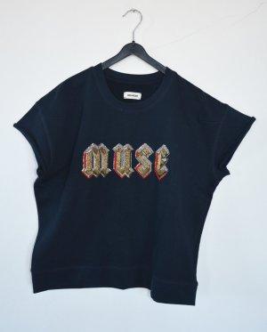 Zadig & Voltaire Bluza dresowa ciemnoniebieski Bawełna