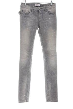Zadig & Voltaire Slim Jeans hellgrau Punktemuster Casual-Look