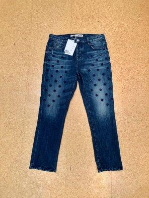 Zadig & Voltaire Jeans boyfriend bleu coton