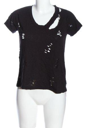 Zadig & Voltaire Camisa tejida negro estampado temático look casual