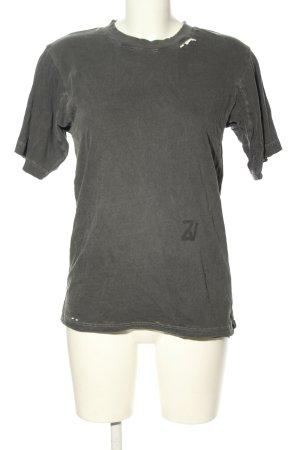Zadig & Voltaire T-Shirt hellgrau meliert Casual-Look