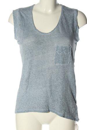 Zadig & Voltaire T-shirt gris clair moucheté style décontracté