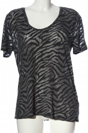 Zadig & Voltaire Transparentna bluzka czarny-jasnoszary Na całej powierzchni