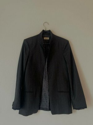 Zadig & Voltaire Blazer de lana negro-gris antracita