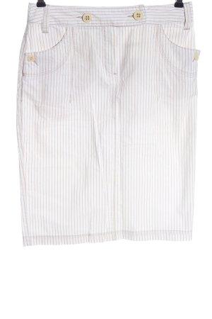 zaffiri Spódnica midi biały-brązowy Wzór w paski W stylu casual