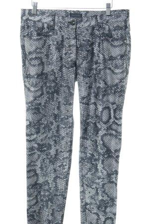 zaffiri Skinny Jeans hellgrau-blau Allover-Druck Casual-Look