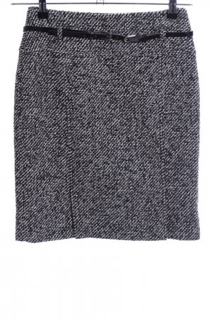 zaffiri Falda Tweed negro-blanco moteado look casual