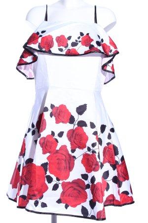 Zaful A-Linien Kleid Blumenmuster Elegant