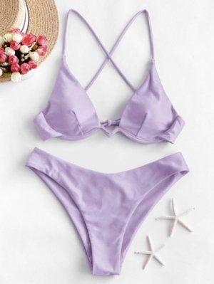 ZAFUL Bikini Badebekleidung Mit Gekreuzten Bügeln