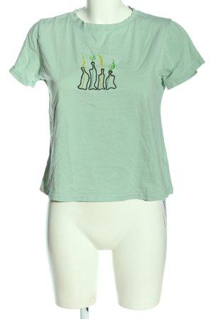 Zaful Cropped Shirt hellgrau Casual-Look