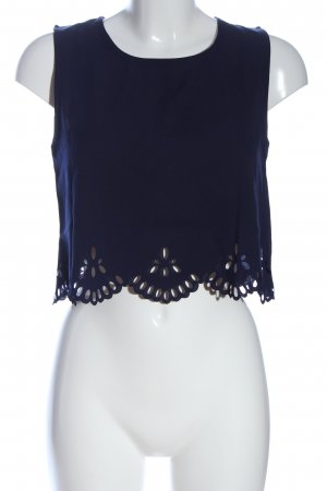 Zaful Top corto blu stile casual
