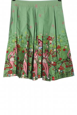 Zaful Klokrok groen-rood prints met een thema casual uitstraling