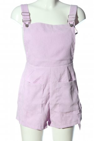 Zaful Dungarees lilac casual look
