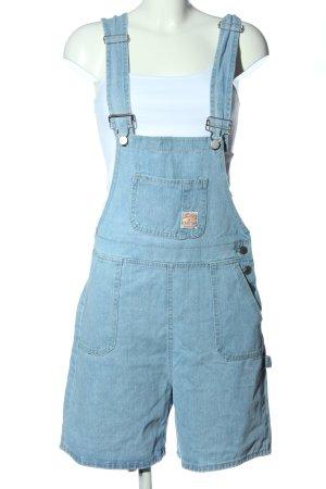 Zaful Szorty ogrodniczki niebieski W stylu casual