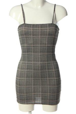 Zaful Minikleid weiß-schwarz Allover-Druck Elegant