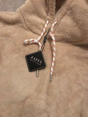 Zaful Pull à capuche beige-chameau