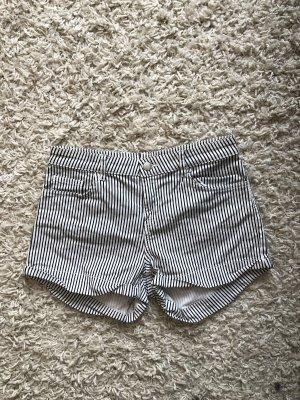 Zaful Shorts Streifen schwarz weiß M 38
