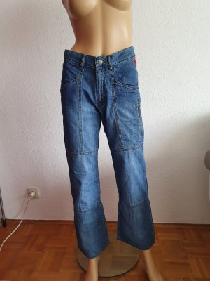 Zagora Jeans a zampa d'elefante blu