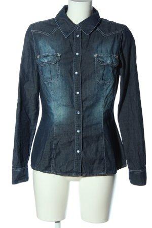 Zagora Chemise en jean bleu style décontracté