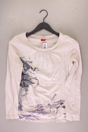 Zagora Printshirt Größe M Langarm creme aus Baumwolle