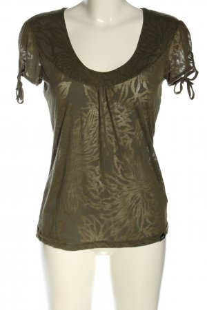 Zagora T-Shirt khaki Blumenmuster Casual-Look