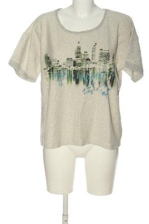 ZAIDA Strickshirt wollweiß Motivdruck Casual-Look