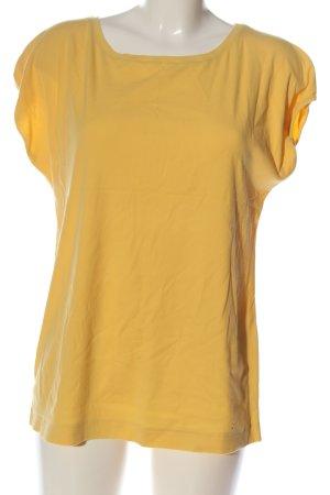 ZAIDA Koszulka z dekoltem w łódkę bladożółty W stylu casual