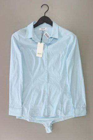 Zalando Bodysuit Blouse blue-neon blue-dark blue-azure cotton