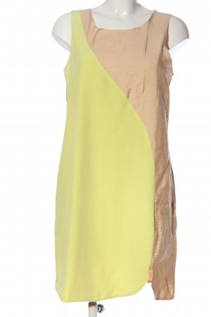 Zalando Collection Blusenkleid braun-blassgelb Casual-Look