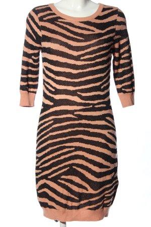 Zalando Collection Pulloverkleid nude-braun Allover-Druck Casual-Look