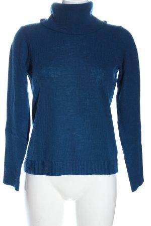 Zalando Essentials Kaszmirowy sweter niebieski Warkoczowy wzór W stylu casual
