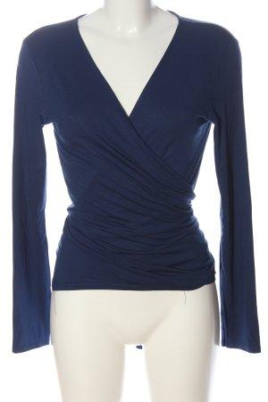 Zalando Essentials Wikkelshirt blauw casual uitstraling