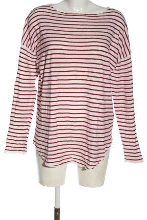 Zalando Feinstrickpullover rot-weiß Streifenmuster Casual-Look