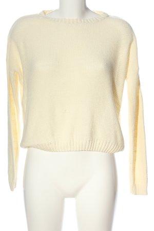 Zalando Crochet Sweater natural white casual look