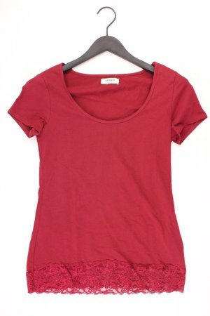 Zalando Shirt mit Spitze Größe M Kurzarm rot