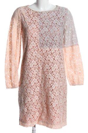 Zalando Lace Dress nude-light grey flower pattern casual look