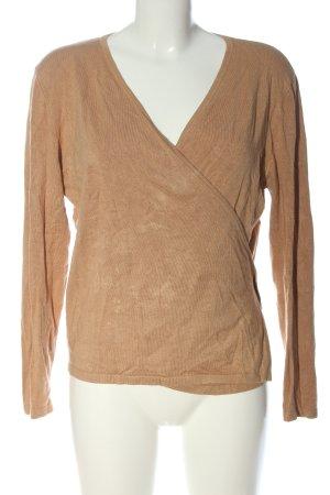 Zalando Knitted Wrap Cardigan brown flecked casual look