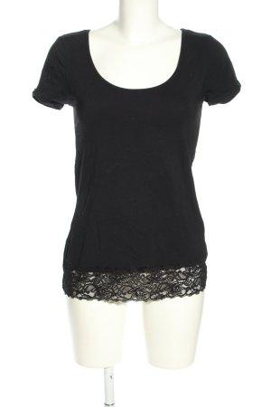 Zalando T-Shirt schwarz Casual-Look