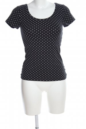 Zalando T-Shirt schwarz-weiß Punktemuster Casual-Look