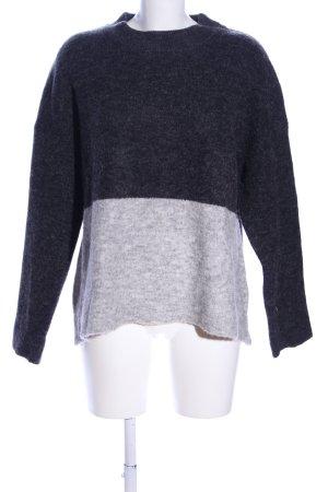 Zalando Maglione di lana nero-grigio chiaro puntinato stile casual