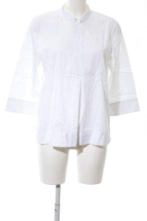 Zanetti Moda Langarm-Bluse weiß Business-Look