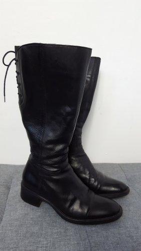 Zanon & Zago Bottes à lacets noir cuir